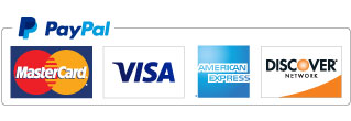 Credit Card Logos, Visa, MasterCard, American Express, Discover and PayPal Checkout