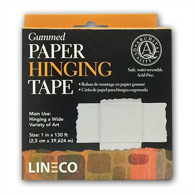 Gummed Paper Hinging Tape From Lineco 174