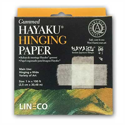 Lineco Hayaku Mulberry Paper Hinging Tape Gummed