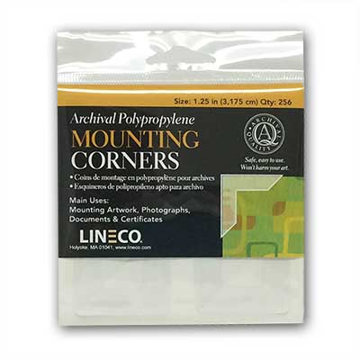 Self Adhesive Mounting Corners 1 188 From Lineco 174