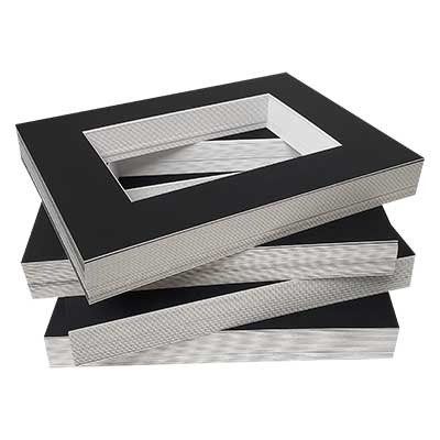 BLACK MAT BOARD VALUE BUNDLE 11x14 (7.5x9.5)