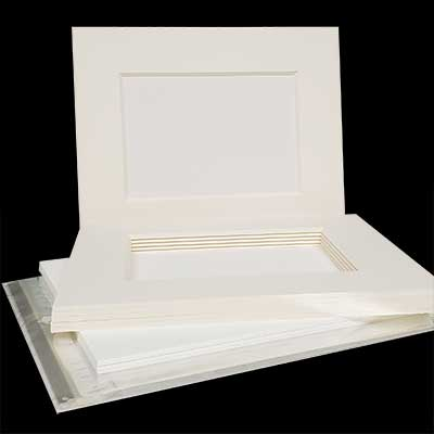 MAT BOARD SHOW KIT - Museum Rag 8ply in Soft White