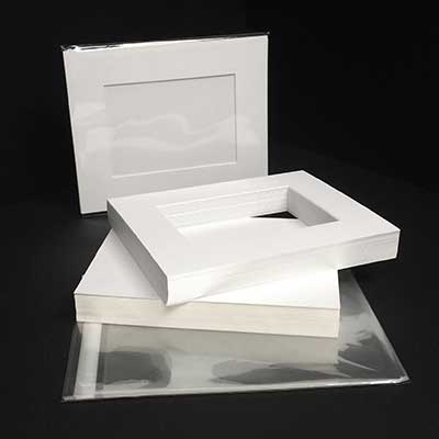 MAT BOARD SHOW KIT - Economy White Core in Smooth White