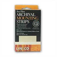 Lineco® 4 inch See-Thru Mounting Strips (60/Pkg.)